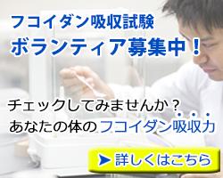 フコイダン吸収試験ボランティア募集中!